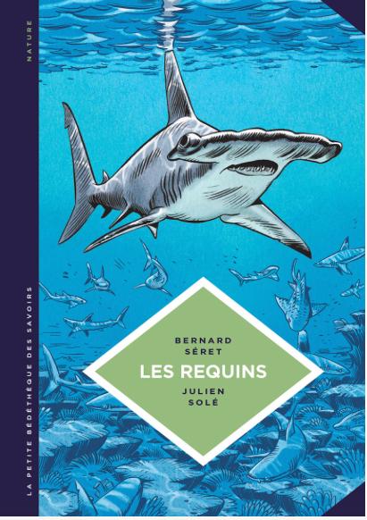 """Couverture de la BD sur les requins, dans la collection """"la petite bédéthèque"""""""